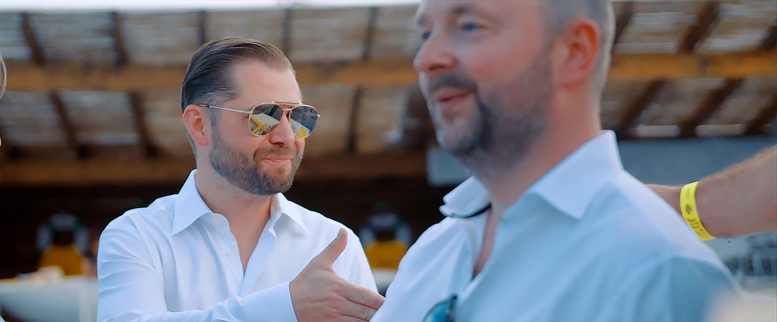 Stijn en Geert van STERCK bij ipanema met Jason Berkley Studios