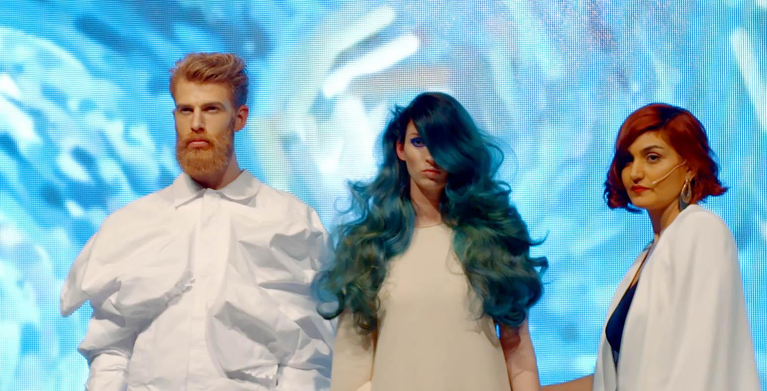 Team of Sevda Durukan promoted by JOYCO winner of the hair games , brussel filmed by Jason Berkley Studios Van Gogh Style modelling and catwalking