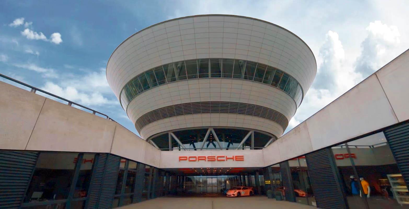 Porsche Center Leipzicht Germany Sterck magazines met Jason Berkley Studios